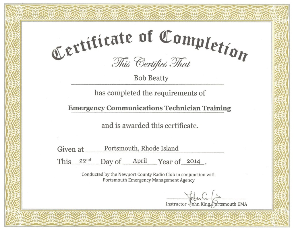 NCECT Certificate