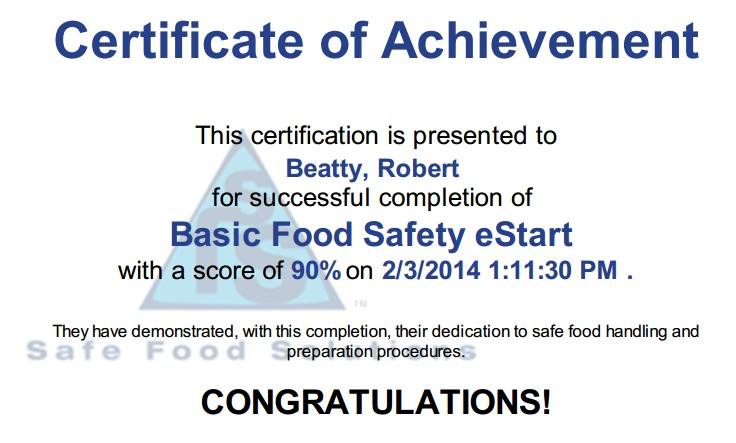 Basic Food Safety