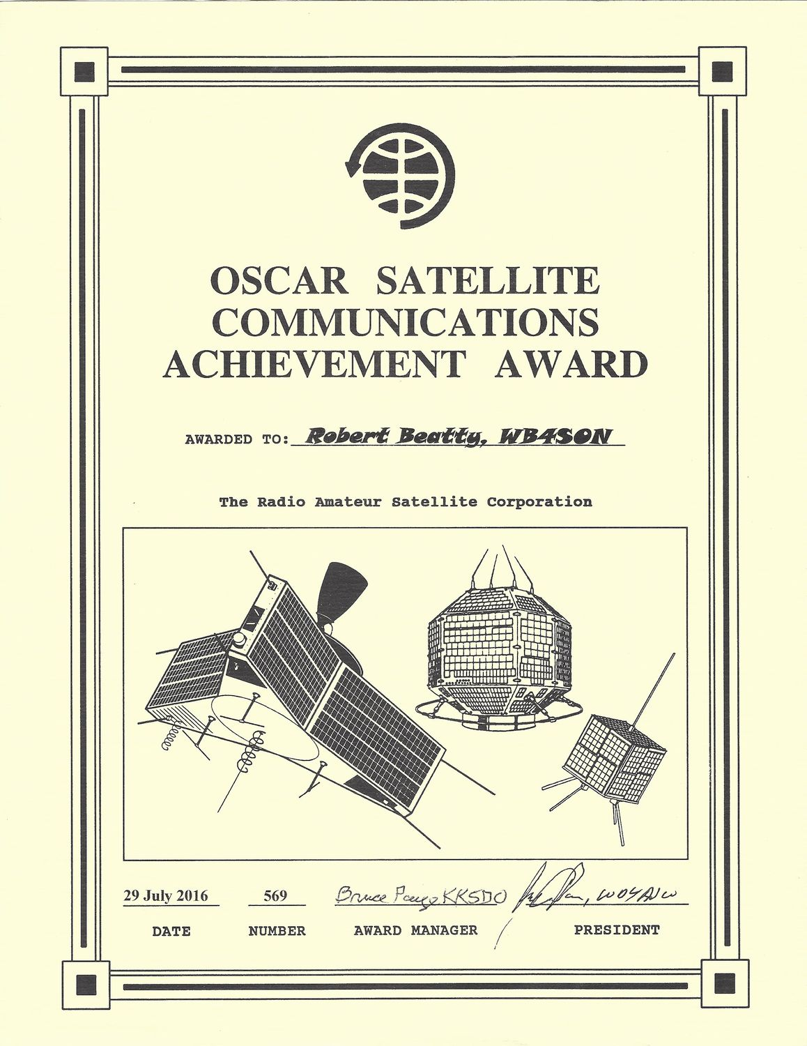 5 8 Ghz Cubesat Politech 1 furthermore  moreover  as well Oscar 7 Back On Air Again also Music. on oscar satellite ham radio