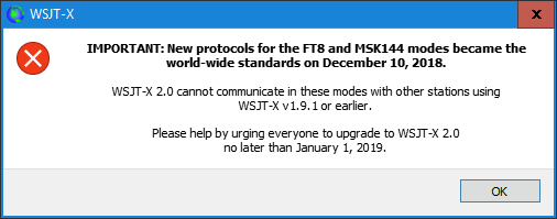 WSJT-X Users MUST Upgrade to Version 2 0 0 | WB4SON